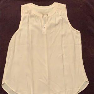 Loft cream sleeveless blouse